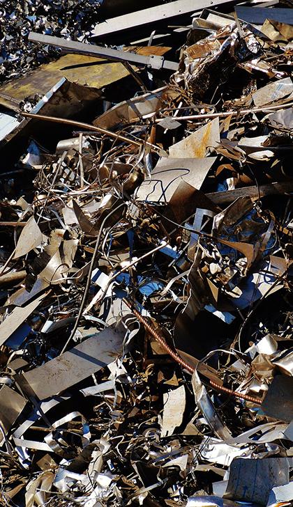 pozostałości po kasacji pojazdów